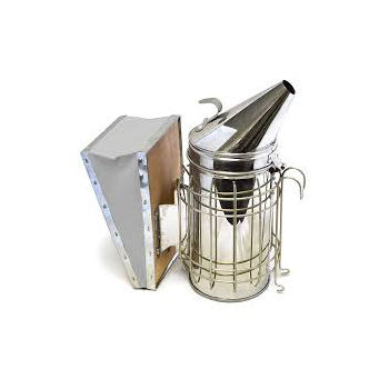 Smoker with Wire Guard and Wooden Bellow