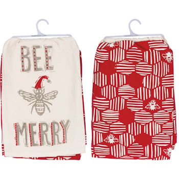 Bee Merry Dish Towel Set