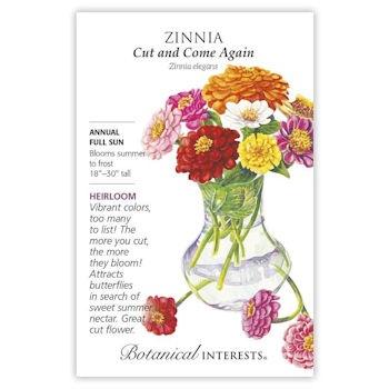 Cut and Come Again Zinnia Seeds, Heirloom
