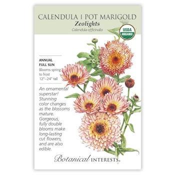 Zeolights Calendula (Pot Marigold) Seeds ORG