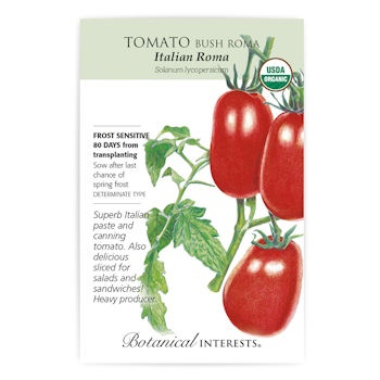 Italian Roma Bush Tomato Seeds ORG