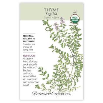 English Thyme Seeds ORG, Heirloom