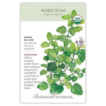 Marjoram Seeds ORG, Heirloom