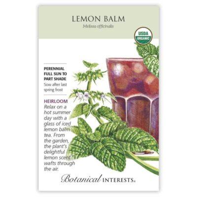 Lemon Balm Seeds ORG, Heirloom